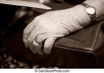 oud, hand