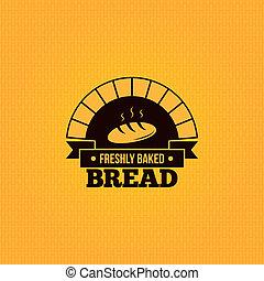 ouderwetse , brood, ontwerp, achtergrond, menu