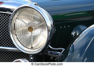 ouderwetse , detail, auto