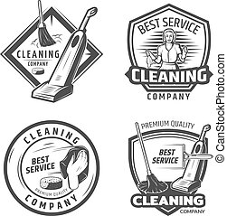 ouderwetse , emblems, afvalverwerking