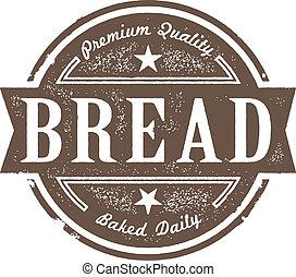 ouderwetse , etiket, bakt, vers brood