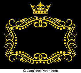 ouderwetse , frame, kroon