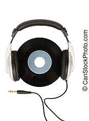 ouderwetse , headphones, dj, vinyl