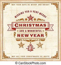 ouderwetse , kerstmis, typografie