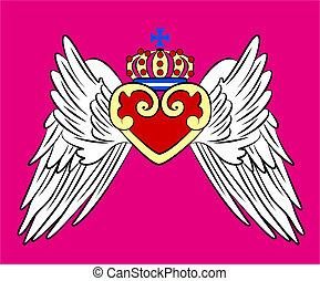 ouderwetse , kroon emblem