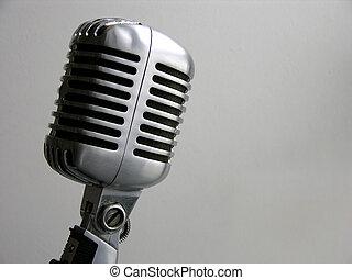 ouderwetse , microfoon