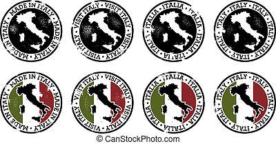 ouderwetse , postzegels, italië