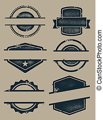 ouderwetse , postzegels, leeg, zegels