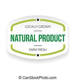 ouderwetse , product, natuurlijke , etiket