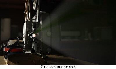 ouderwetse , projector, film, 8mm