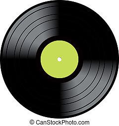 ouderwetse , schijf, vinyl, lp, registreren