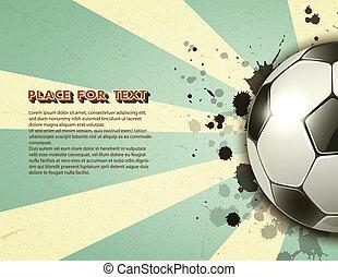 ouderwetse , voetbal, grunge, achtergrond