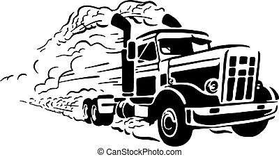 ouderwetse , vrachtwagen