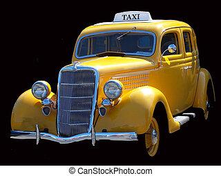 ouderwetse , yellow cab