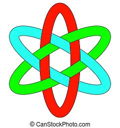 ovalen, interlocking, rgb, ellipses, mal, logo, weven