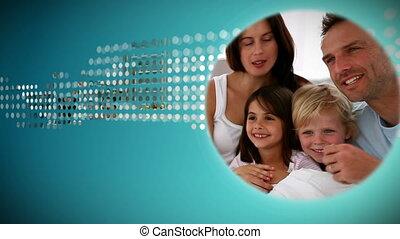 over, animatie, gezin