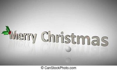 over, kerstmis, animatie, vrolijk, fam