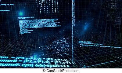 over, netwerk, animatie, data, 3d, flo