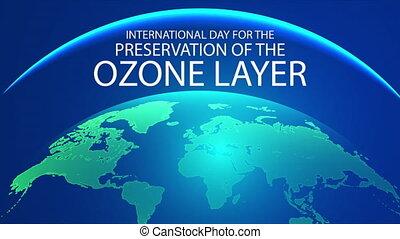 ozon, internationaal, bewaring, dag, laag, planeet