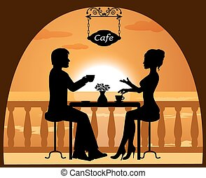 paar, koffiehuis