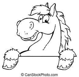 paarde, geschetste