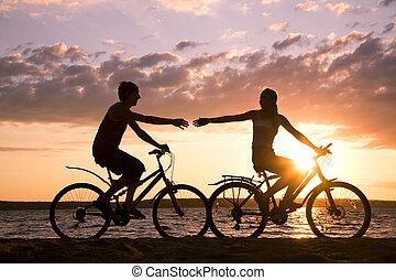 paardrijden, bicycles