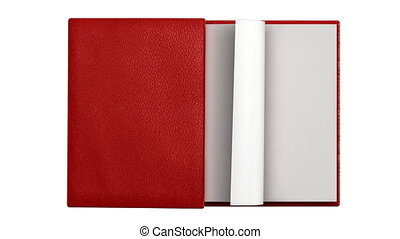 pagina's, boek, draaien, moderne, leeg