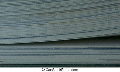 pagina's, boek, draaien