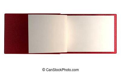 pagina's, boek, moderne, leeg, isolat