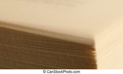 pagina's, draaien, boek