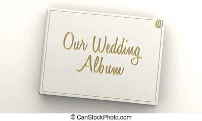 pagina's, leeg, album, trouwfeest