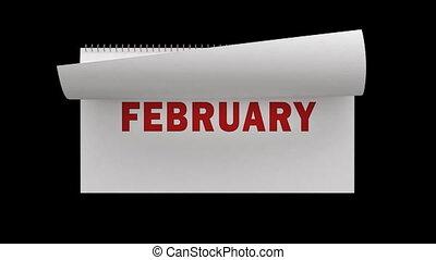 pagina's, vasten, het wegknippen, kalender
