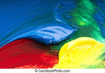 paints., vermenging, achtergrond