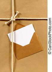 pakpapier, enveloppe, pakket
