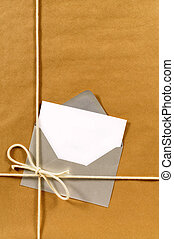 pakpapier, enveloppe, pakket, zilver