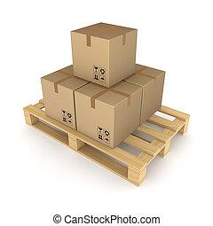 pallet., dozen, karton