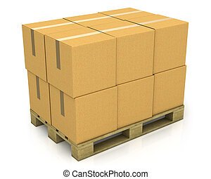 pallet, dozen, karton, stapel