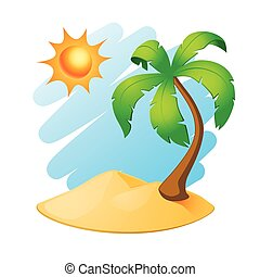 palmboom, eiland
