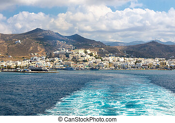 panorama, naxos, cyclades, griekenland