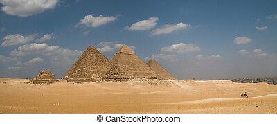 panorama, piramides