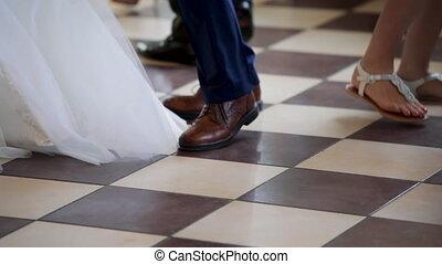 papa, huwelijksdag, haar, dancing