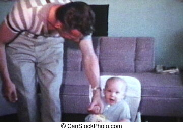 papa, portie, baby, (1963), wandeling