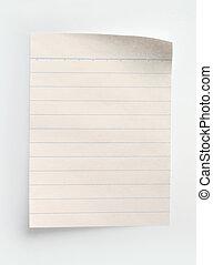 papier, aantekenboekje, lined