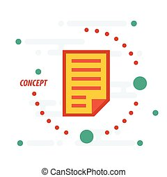 papier, concept, gele