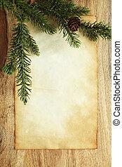papier, kerst decoraties, leeg