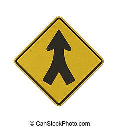 papier, meldingsbord, verkeer, gerecyclde