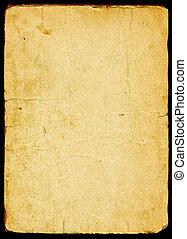 papier, oud, textured