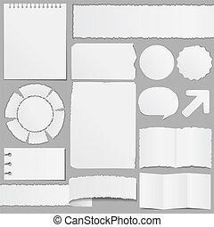 papier, oud, voorwerpen