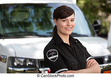 paramedic, vrouw