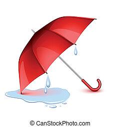 paraplu, nat